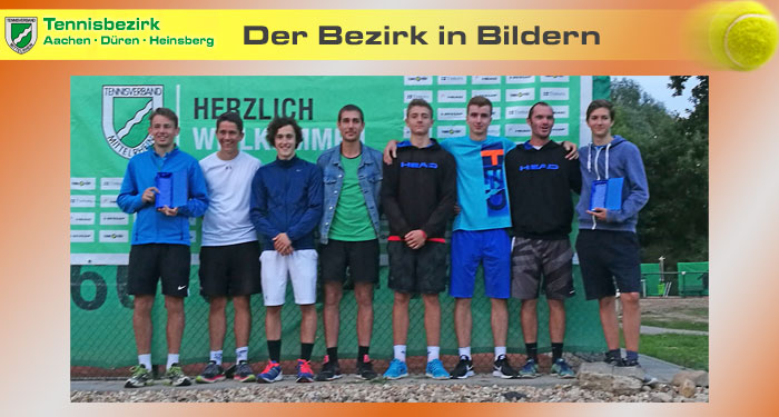 Bezirkspokal - Sieger Herren TC BG Wassenberg und Zweiter RW Alsdorf